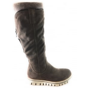 2/26651/29 Irina Taupe Suede Knee-High Boot