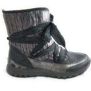 2-26717 Dark Grey Casual Ankle Boot