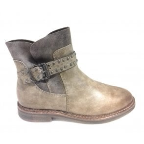 2-26804 Womens Taupe Ankle Boot