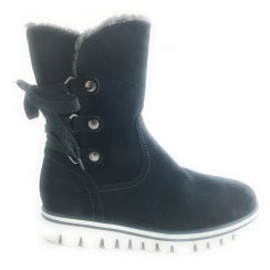 2-26820 Womens Navy Suede Winter Boot