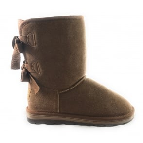 2/26823/29 Light Brown Suede Pull On Ankle Boot