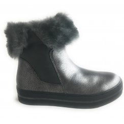 2-26835 Womens Pewter Wedge Boot