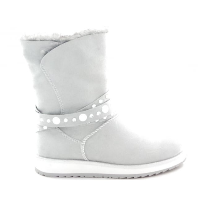 Marco Tozzi 2/26855/39 Grana Light Grey Textile Ankle Boot