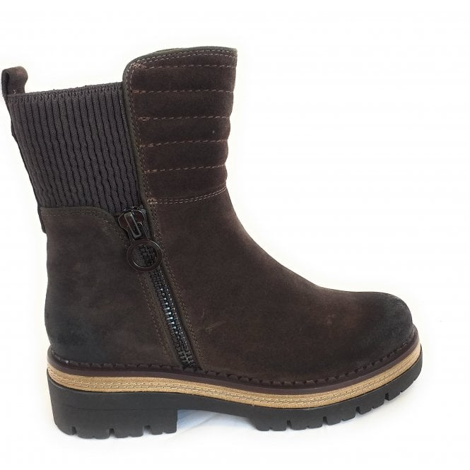 Marco Tozzi 2-26863 Brown Suede Ankle Boots