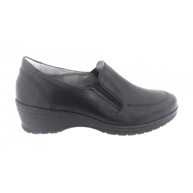 Jenny 22-17363 Cremona Black Slip On Casual Shoe