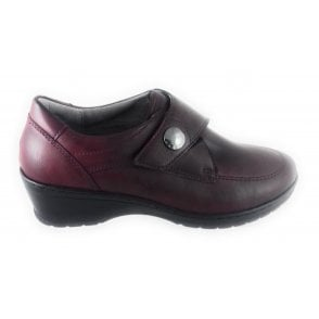 22-17365 Cremona Dark Red Casual Shoe