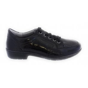 22-17437 Albany Black Patent Lace-Up Casual Shoe