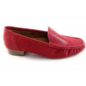 22-50137 Atlanta Red Reptile Print Loafer