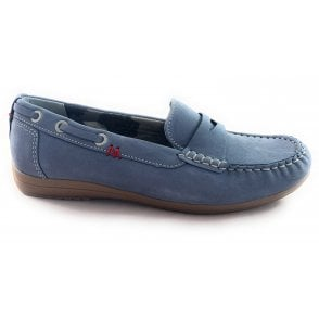 22-50529 Hamilton Denim Blue Moccasin