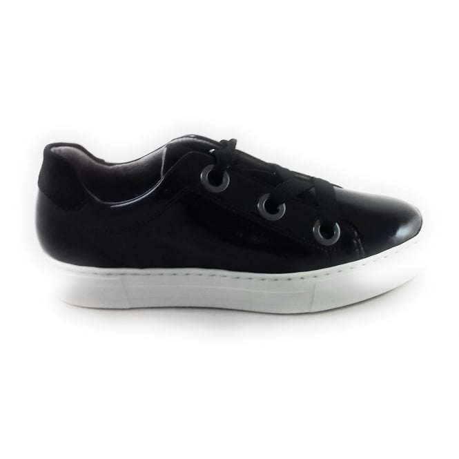 Jenny 22-50649 Canberra Black Patent Casual Lace-Up Shoe