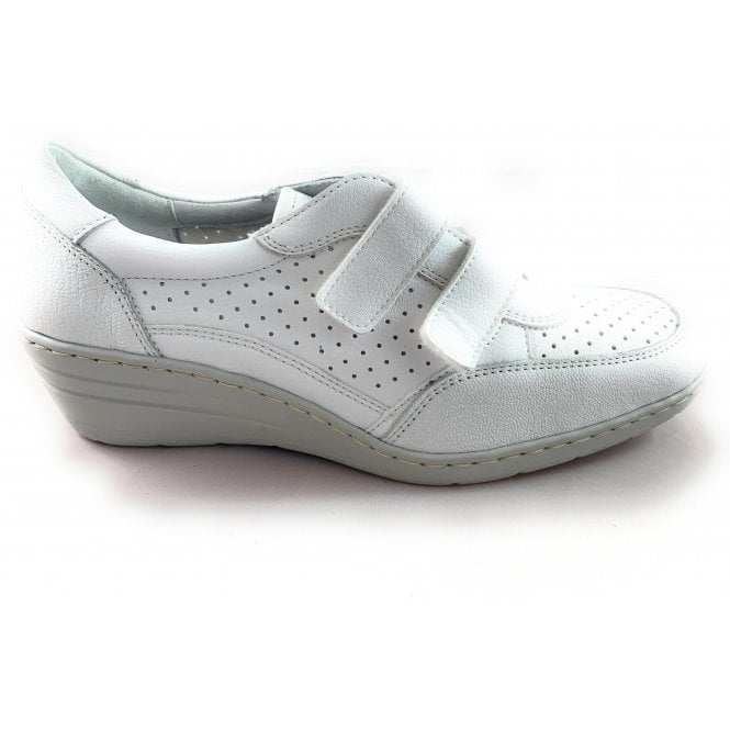 Jenny 22-50961 Reggio-Ang White Leather Casual Wedge Shoe