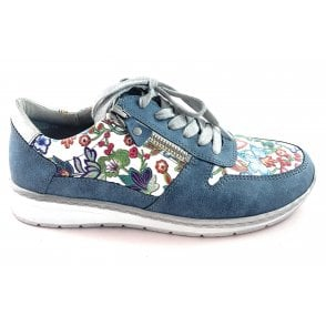 22-52460 Sapporo Denim Blue Multi Casual Shoe