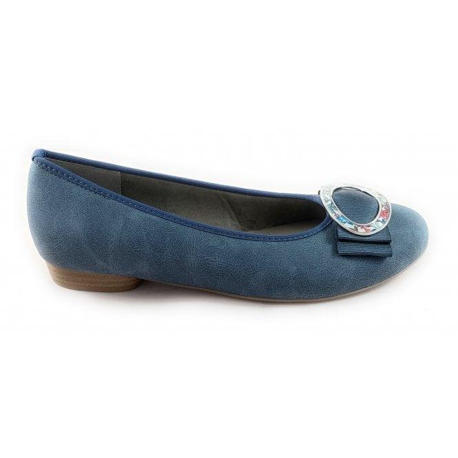 Jenny 22-53320 Pisa Denim Blue Pump