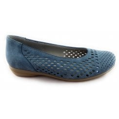 22-53337 Stanford Denim Blue Slip-on Casual Shoe