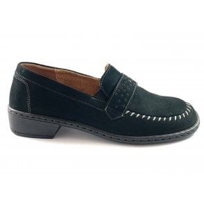 22-54251 Zaros Black Nubuck Slip-on Loafer