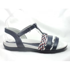 22-55941 Nepal Navy Leather open-Toe Sandal