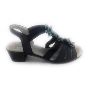 22-56401 Ballina-Sand Navy Open -Toe Sandal