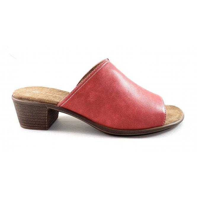 Jenny 22-56402 Ballina Red Faux Leather Heeled Mule