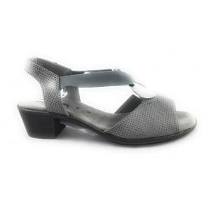 22-56407 Ballina-Sand Grey Leather Open -Toe Sandal