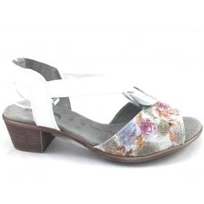22-56407 Ballina-Sand White Leather Open -Toe Sandal