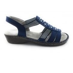 22-57204 Korsika-III Navy Open Toe Sandal