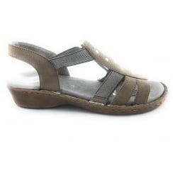 22-57204 Korsika-III Taupe Open Toe Sandal