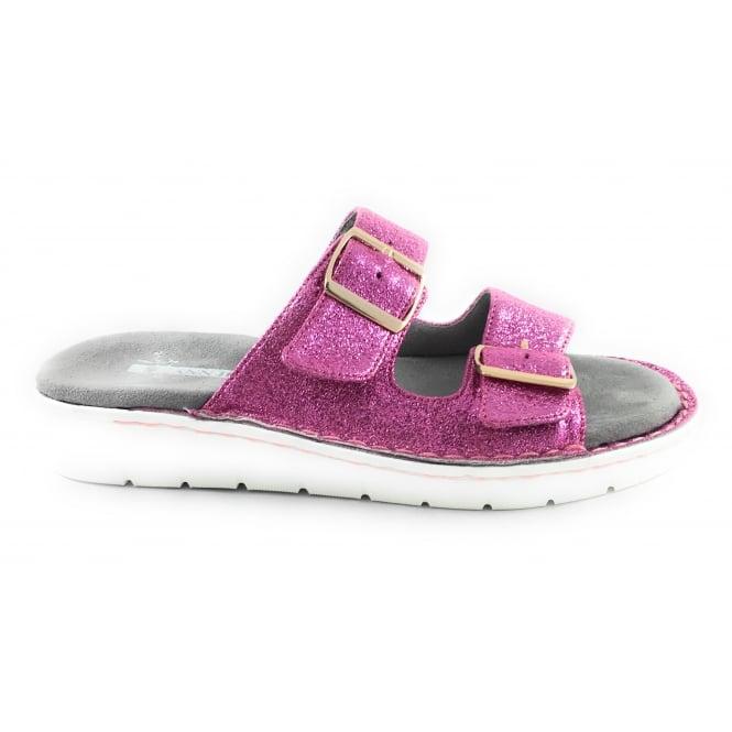 Jenny 22-57205 Korsika Sport Pink Glitter Mule