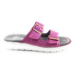 22-57205 Korsika Sport Pink Glitter Mule