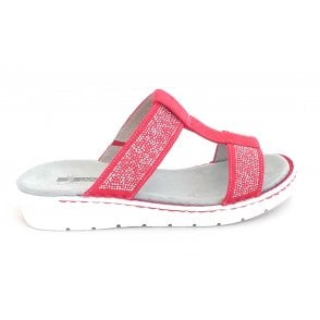 22-57207 Korsika Sport Red Mule Sandal