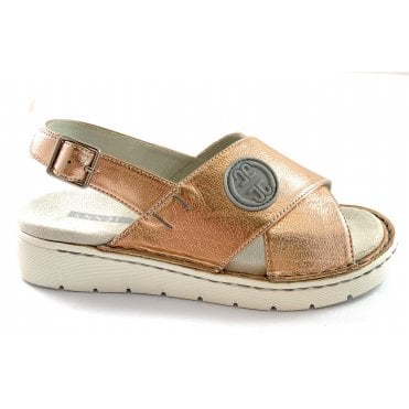 22-57218 Korsika Sport Copper Metallic Sandal
