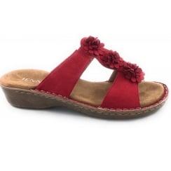 22-57257 Korsika Red Open Toe Mule Sandal