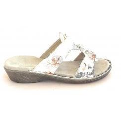 22-57268 Korsika Off White Floral Mule Sandal