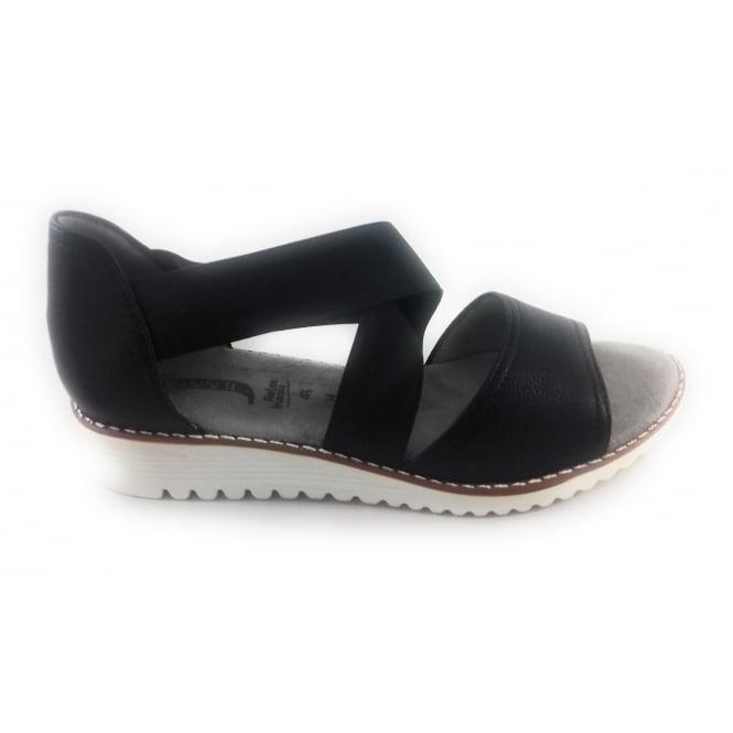 Jenny 22-57511 Belize-Sand Black Closed Heel Sandal