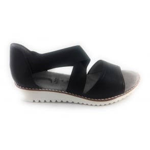 22-57511 Belize-Sand Black Closed Heel Sandal