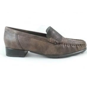 22-60170 Atlanta Brown Grain and Bronze Loafer