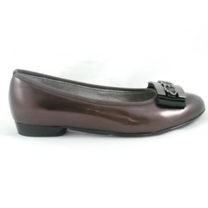 22-63355 Pisa Bronze Shiny Ballerina Shoe