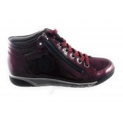 22-64704 Seattle Burgundy Patent Ankle Boot