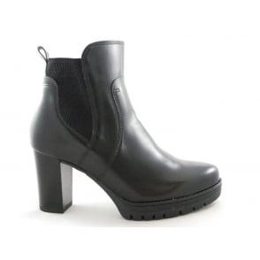 22-65018 Preston Black Platform Ankle Boot