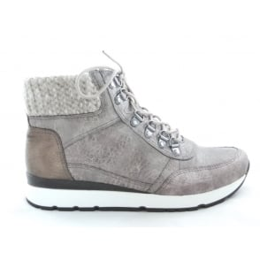 22-65333 Cordoba Taupe and Bronze Casual Lace-Up Ankle Boot