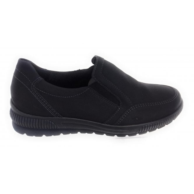 Jenny 22-67626 Calgary Black Wide Fit Casual Shoe