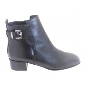 2226 Emily Black Leather Ankle Boot