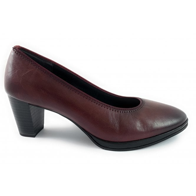 Marco Tozzi 22400-23 Burgundy Leather Court Shoe