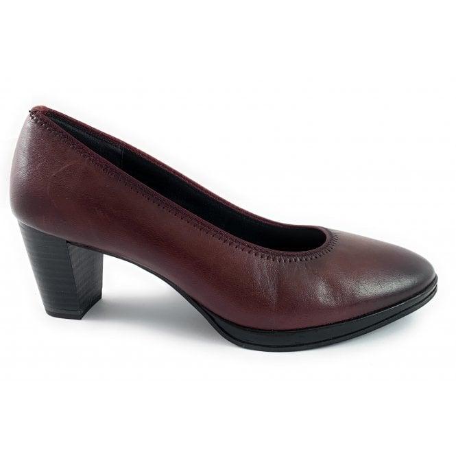 Marco Tozzi 22400-23 Burgundy Leather Court Shoe