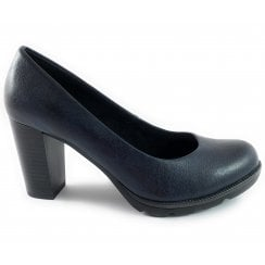 22404-23 Navy Faux Leather Court Shoe