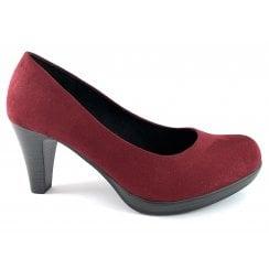 22411-33 Wine Faux Suede Court Shoe