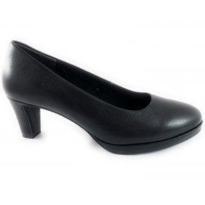 22427-33 Black Leather Court Shoe