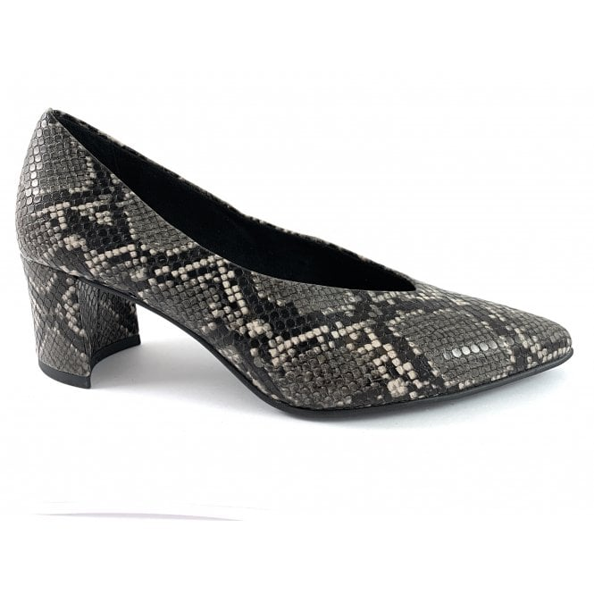 Marco Tozzi 22430-33 Dark Grey Reptile Print Court Shoe