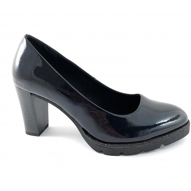 Marco Tozzi 22457-23 Navy Patent Court Shoe