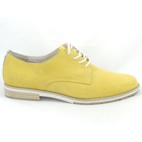 23211 Yellow Suede Lace-up Casual Shoe