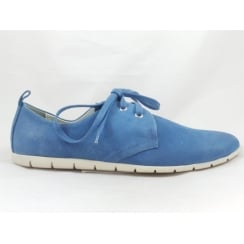 23625 Azure Blue Lace-Up Casual Shoe